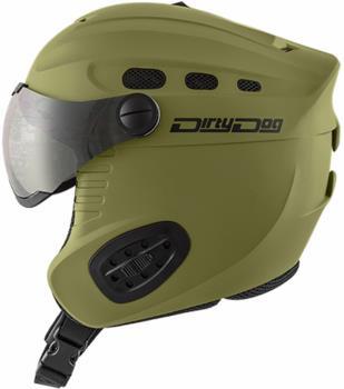 Dirty Dog Apache Ski/Snowboard Visor Helmet S Matte Khaki Flash Silver