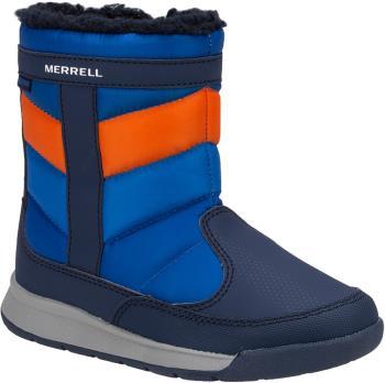 Merrell Child Unisex Alpine Puffer Wtrpf Kid's Winter Boots, Uk 2 Navy/Orange