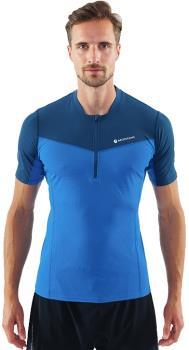 Montane Dragon Zip Technical Short Sleeve T-shirt, L Electric Blue