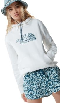The North Face Womens Drew Peak Women's Pullover Hoodie, Uk 14 White/Floral