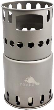 Toaks Titanium Backpacking Stove Ultralight Woodburner, Regular