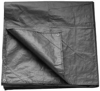 Vango PE Groundsheet Lightweight Camping Tarp, 6x4m Smoke