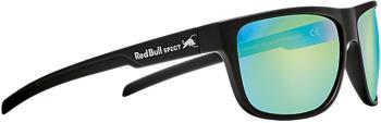 Red Bull Spect Loom Green Mirror Polarised Sunglasses, M/L Matt Black