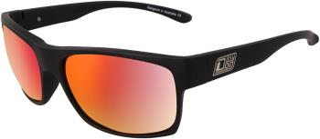 Dirty Dog Furnace Grey/Red Fusion Polarized Sunglasses, M Satin Black