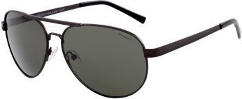 North Beach Tekka Green Polarised Sunglasses, M Gunmetal