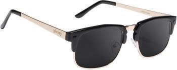Glassy Sunhaters P-Rod Sunglasses M Black/Gold, Black Polarized Lens