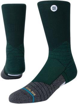 Stance Icon Sport Crew Technical Walking/Hiking Socks, L Green