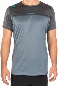 La Sportiva Crunch Rock Climbing T-shirt, L Slate/Carbon