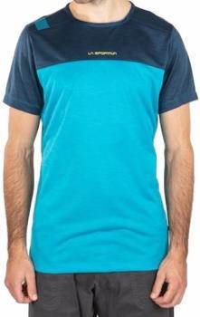 La Sportiva Crunch Rock Climbing T-shirt, S Tropic Blue/ Opal