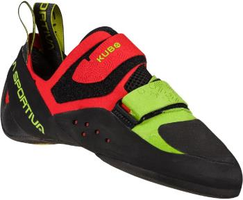 La Sportiva Kubo Rock Climbing Shoe, UK 6 | EU 39.5 Goji / Neon