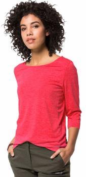 Jack Wolfskin JWP 3/4 Long Sleeve Women's T-Shirt, UK 8-10 Tulip Red