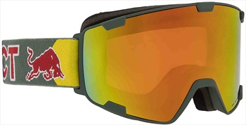Red Bull Spect Park Red Snow Snowboard/Ski Goggles M/L Olive Green