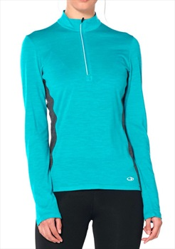 Icebreaker Women's Technical Top, S, Arctic Teal Heather/Nightfall