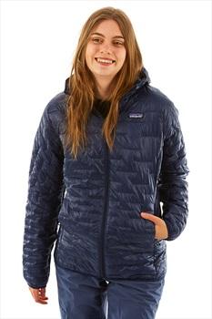 Patagonia Women's Micro Puff Hoody Insulated Jacket UK 12 Classic Navy