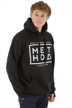 Method Box Logo Pullover Hoodie, M Black