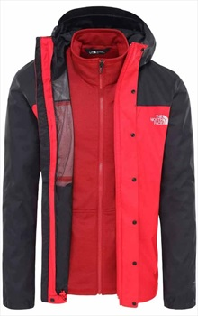 The North Face Quest Triclimate 3-in-1 Hiking Jacket XL Red/Black