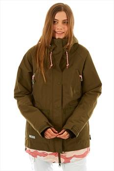 DC Riji Women's Ski/Snowboard Jacket, M Olive Night