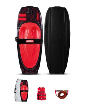 Jobe Streak Performance Kneeboard Package, Black Red 2021