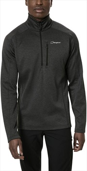 Berghaus Spitzer Half-Zip Marl Fleece Pullover, XL Black/Grey