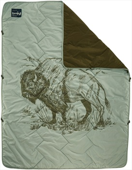 ThermaRest Stellar Blanket Insulated Camping Blanket Bison Print