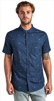 Roark Adult Unisex Triple Lanterns Button Up Shirt, XL Navy