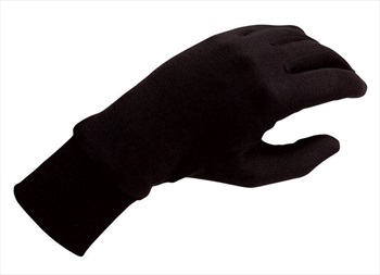 Silkbody Puresilk Ski/Snowboard Liner Gloves, M Black