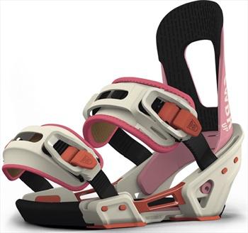 Switchback Up Women's Snowboard Binding, XS-M White/Pink 2019