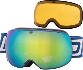 Dirty Dog Mutant 2.0 Green Fusion Ski/Snowboard Goggles, L Navy