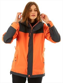 Nikita Sequoia Insulated Women's Ski/Snowboard Jacket, S Coral/Grey