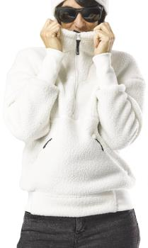 FW Root Pillow Women's Pullover Midlayer Fleece, S Snow White