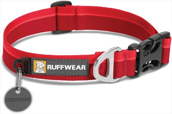 Ruffwear Hoopie Webbing Dog Collar S Red Currant