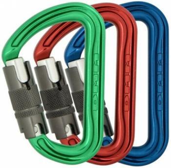 DMM Shadow Locksafe 3-Pack Rock Climbing Carabiner Set, One Size Multi