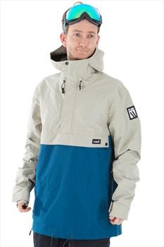 Planks Happy Days Anorak Shell Ski/Snowboard Jacket, M Mushroom