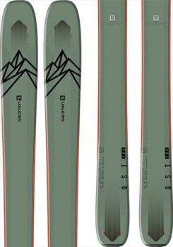 Salomon Adult Unisex Qst 106 Skis 174cm, Green/Orange, Ski Only, 2021