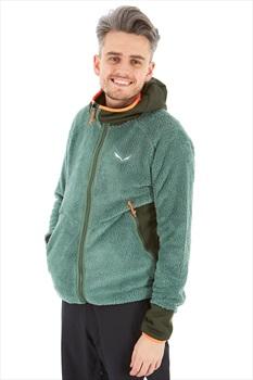 Salewa Puez Warm Polarlite Men's Full Zip Fleece Hoodie, L Myrtle