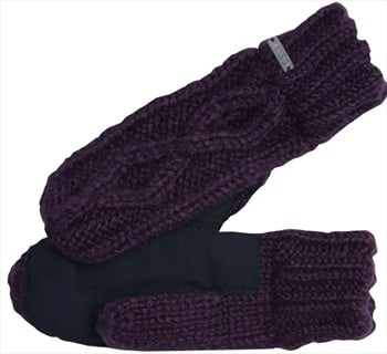 Coal The Bobbie Knit & Suede Mitten, One Size Fits Most Aubergine