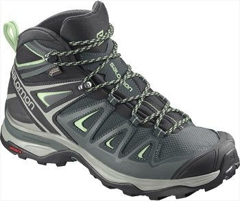 Salomon Womens X ULTRA 3 Mid GTX Hiking Boots, UK 4 Balsam Green