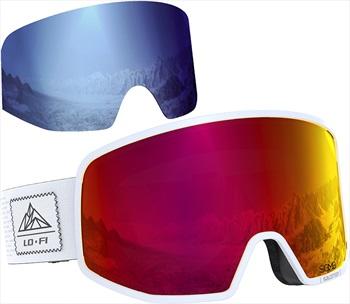 Salomon Lo Fi Sigma Poppy Red Snowboard/Ski Goggles M/L Black & White