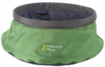 Mountain Paws Dog Water Bowl Travel Pet Bowl, Large Green