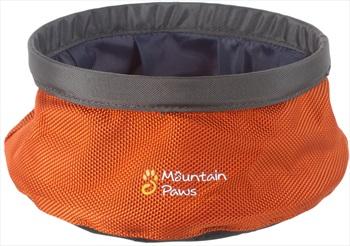 Mountain Paws Dog Water Bowl Travel Pet Bowl, Small Orange