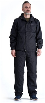 Five Seasons Star Wind/Waterproof Jacket & Trousers Set, L Black