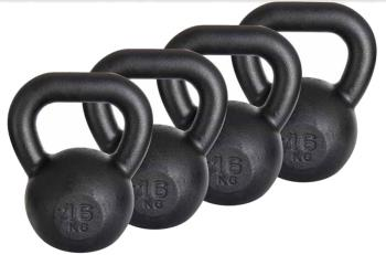 Iron Strength Cast Iron Kettlebells/Weights, 8kg Black