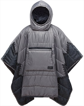 ThermaRest Honcho Poncho Hooded Thermal Camping Blanket, Slate Print