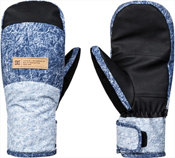 DC Franchise Women's Ski/Snowboard Mittens, S Dark Blue Denim