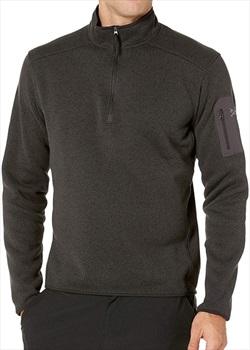 Arcteryx Covert Half Zip Men's Technical Fleece, L Black Heather