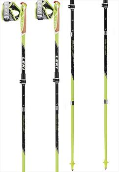 Leki Micro Trail Vario Compact Trail Running Poles, Green/Black