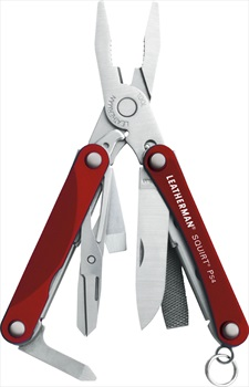 Leatherman Squirt PS4 Keychain Multi Tool, 9 Tools Red
