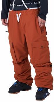 Planks X Woodsy 'Yeah Baby' Ski/Snowboard Pants, L Burnt Orange