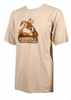 Liquid Force Obscura Cowboy T Shirt, Large, Beige Brown