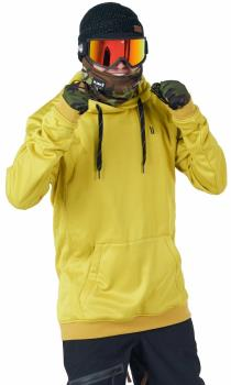 Planks Adult Unisex Park 'N Ride Technical Mid Layer Hoodie, M Mellow Yellow